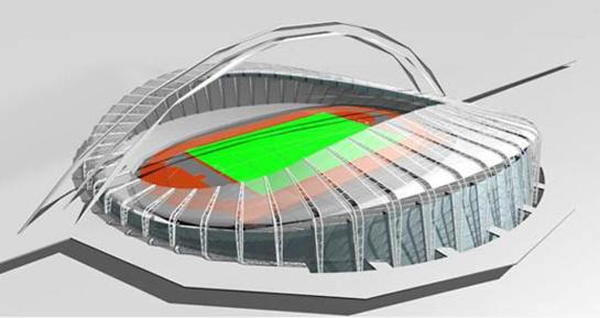 Iš Nacionalinio stadiono konkurso iškrito turkai, likę du dalyviai - Lietuvos įmonės