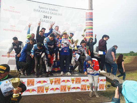 Trečiame etape plungiškiai motokrosininkai vėl pirmi!
