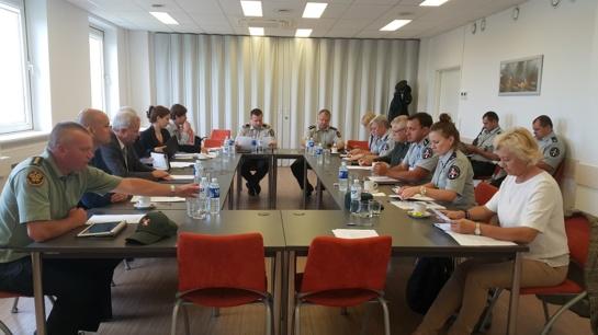 Kauno oro uoste posėdžiavo Centrinė PKP veiklos koordinavimo grupė