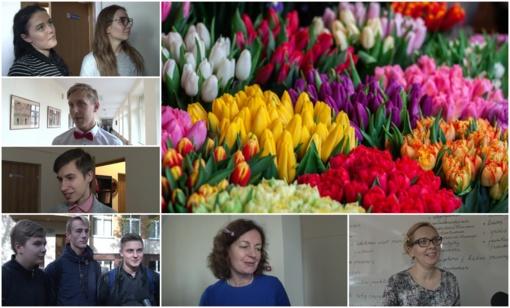 Stasio Šalkauskio gimnazijos mokiniai šventinę dieną virto žurnalistais (VIDEO)