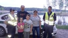 Pasiklydusiai šeimai kelią rasti padėjo pareigūnai