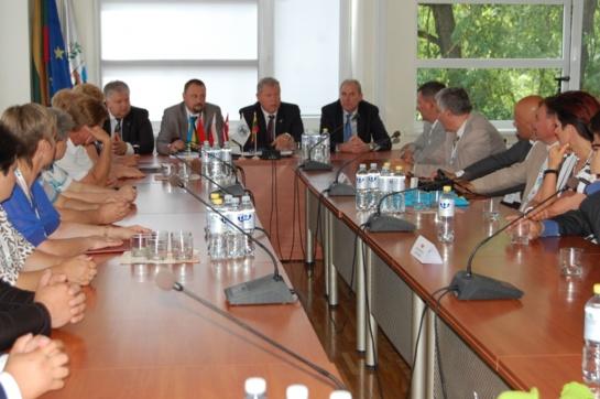 Anykščių rajono savivaldybėje lankėsi užsienio partnerių delegacijos