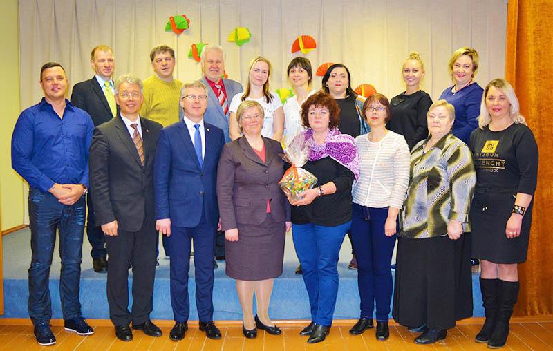 Pasveikinti Jurbarko rajono kultūros įstaigų vadovai ir darbuotojai