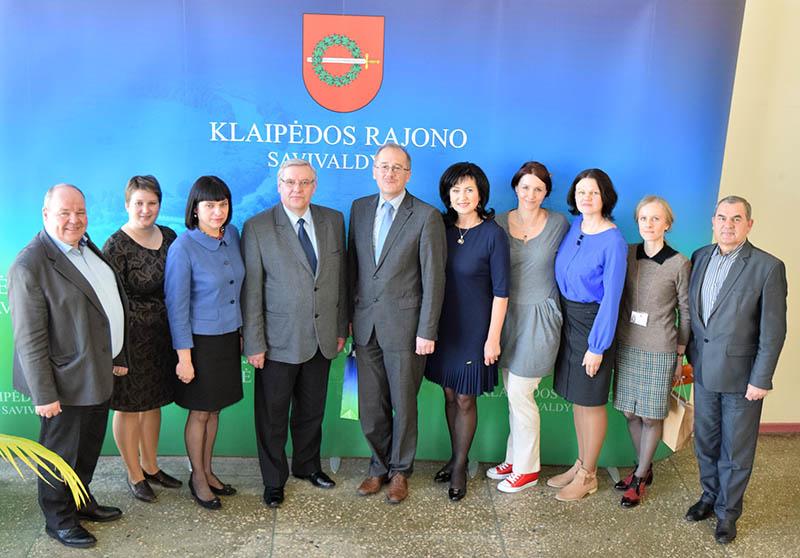 Klaipėdos rajono savivaldybėje lankėsi Jaunjelgavos delegacija