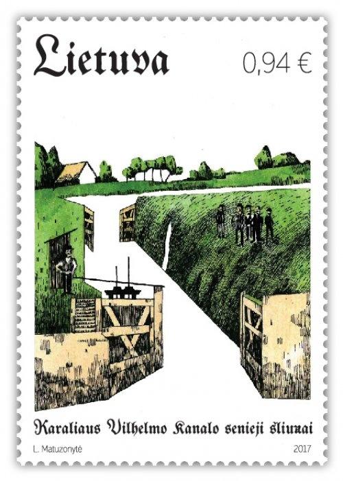 Senuosius karaliaus Vilhelmo šliuzus primins pašto ženklas