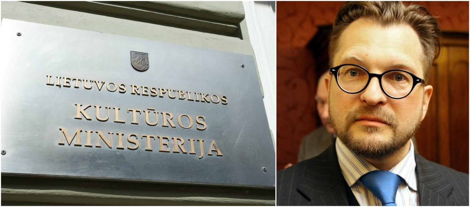 Kultūros ministrės patarėjas L. Kontrimas atleidžiamas tik įteikus antrąjį prašymą