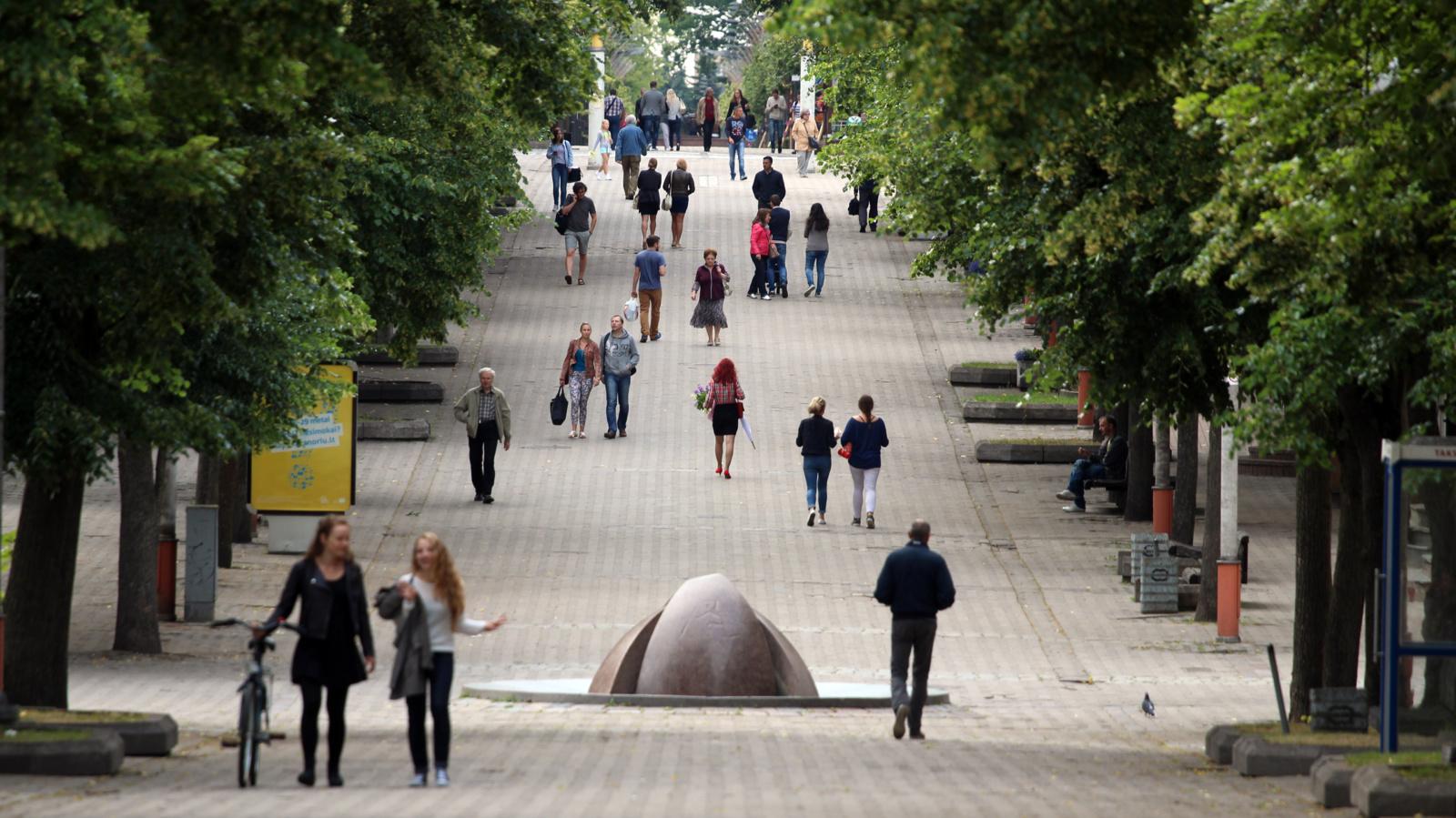 Šiaulių mieste didėja gyventojų skaičius?