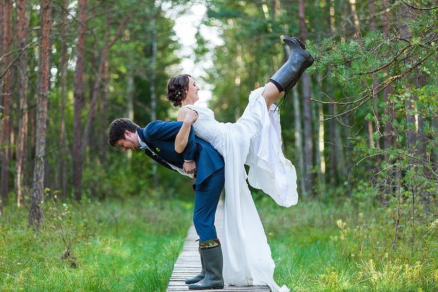 Rudeniškų vestuvių akcentas - botai