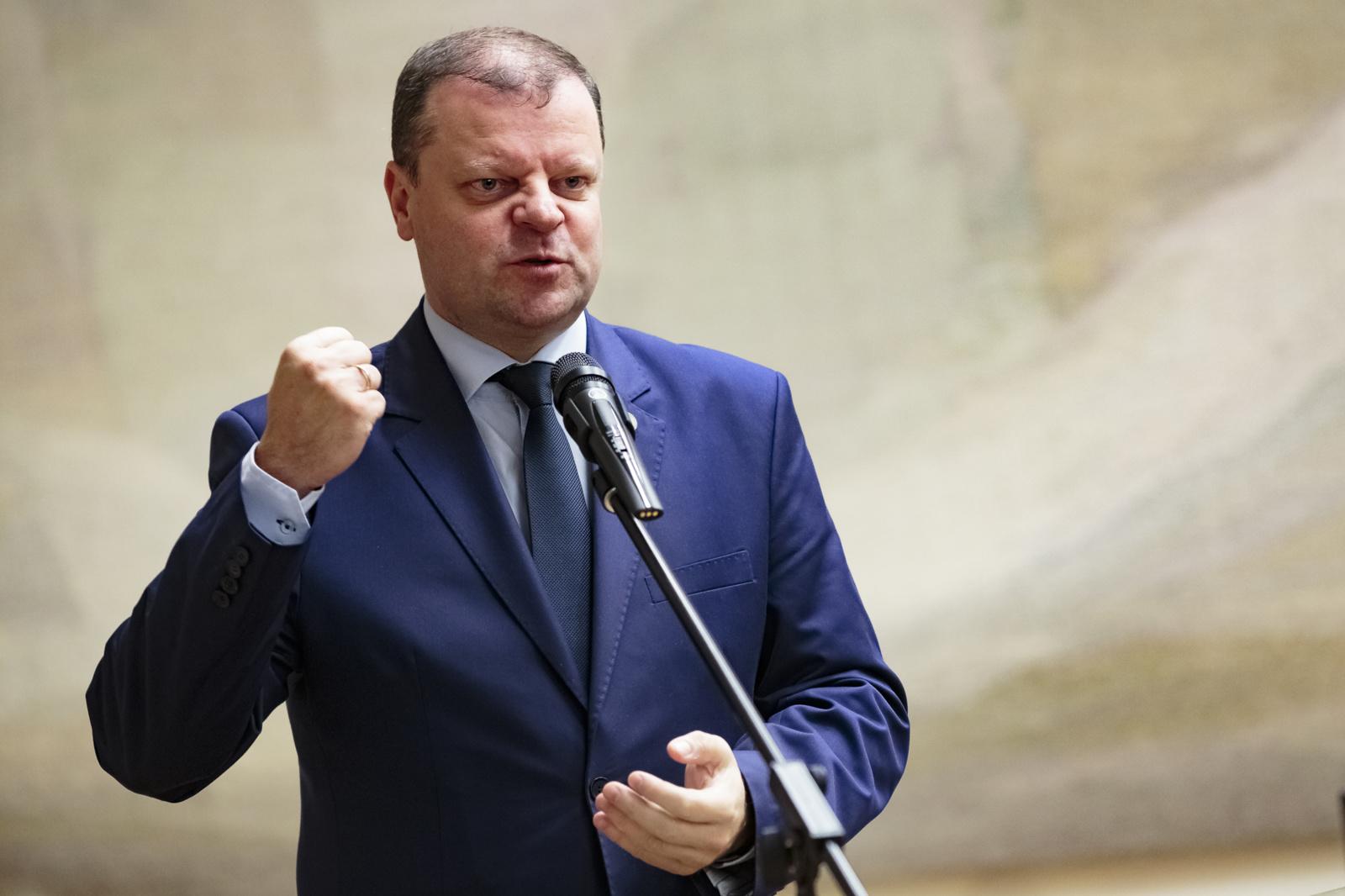 Premjeras: mokesčių reformos įstatymus Seimas priims iki liepos