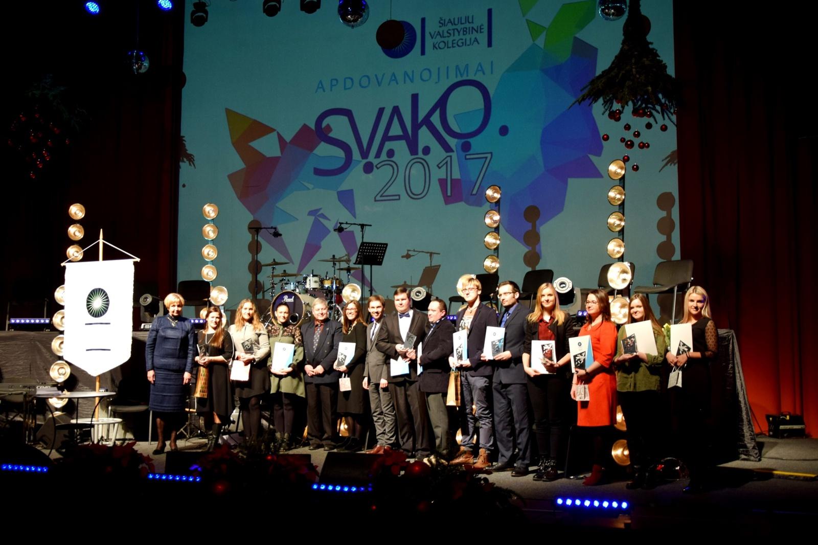 Švenčių išvakarėse – S.V.A.K.O. 2017 apdovanojimai