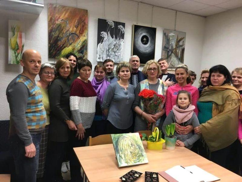 Pagėgių bibliotekoje – spalvomis pražydusi kraštietės  Liucijos Bungardienės meilė Lietuvai