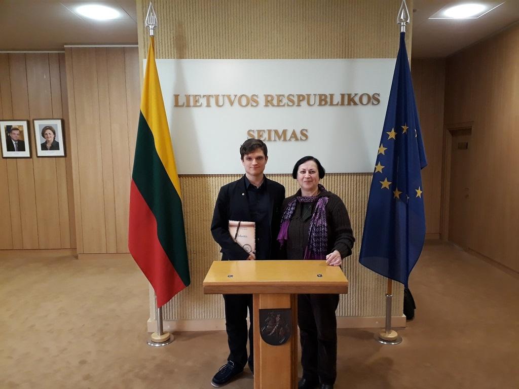 """Gimnazistas- ,,Lietuvos istorijos žinovo"""" finalo dalyvis"""