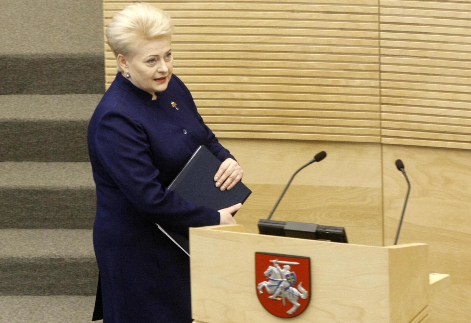 D. Grybauskaitė: šiandien savanorių reikia ne tik į kariuomenę, bet ir į partijas