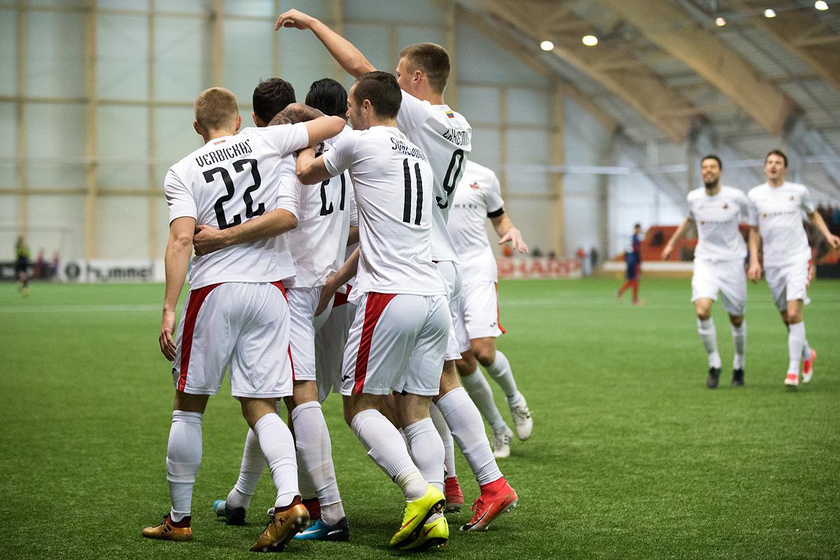 """""""Sūduvos"""" futbolininkai Čempionų lygos atrankoje įveikė Kipro klubą"""