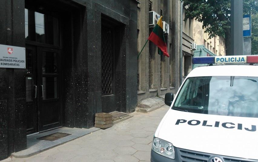 Jonavos rajone sulaikomas smurtautojas apspardė policijos pareigūną