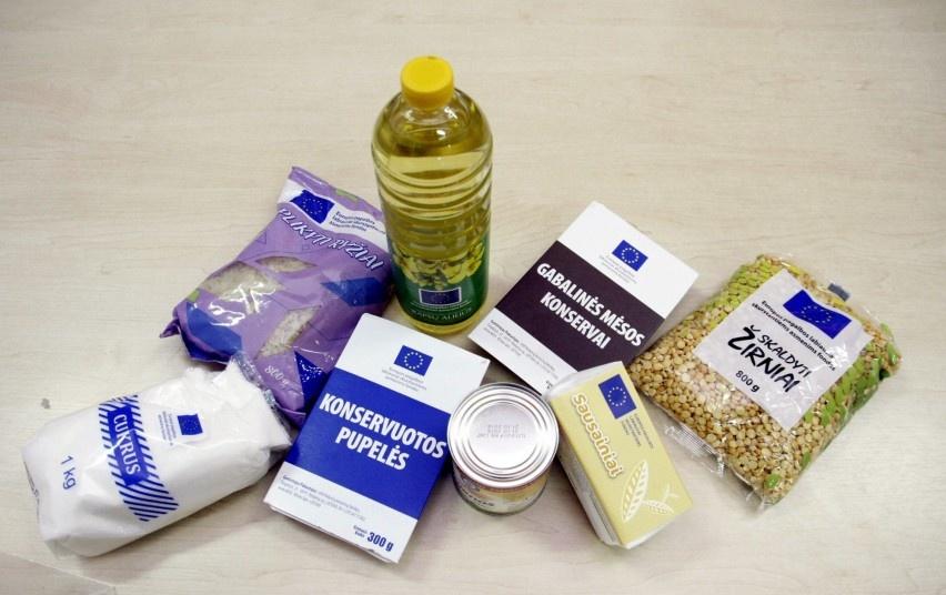 Paramos maisto produktais dalijimas Kalvarijos savivaldybėje
