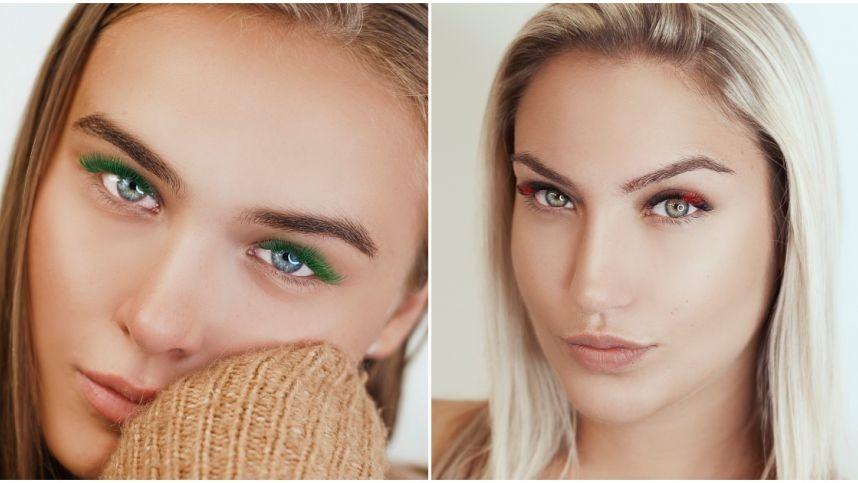 Į Lietuvą atkeliavo spalvotų priauginamų blakstienų mada – moterys renkasi ryškų žvilgsnį
