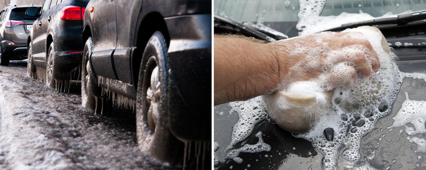 7 patarimai, kaip žiemą plauti automobilį