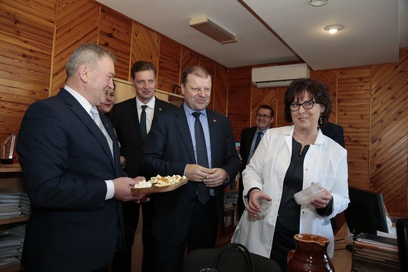 """Bendrovę """"Šaltekšnis"""" aplankė Ministras Pirmininkas"""