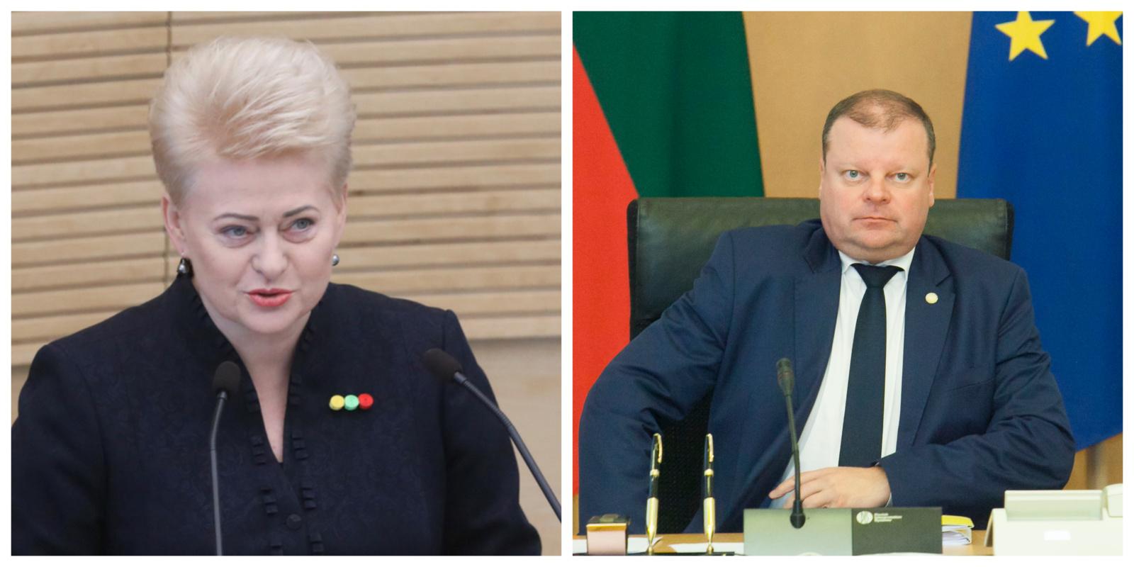 """D. Grybauskaitė dėl mokytojų S. Skverneliui davė tris savaites: """"Ilgiau laukti negalima"""""""