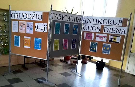 Radviliškio Lizdeikos gimnazijoje paminėta Tarptautinė antikorupcijos diena