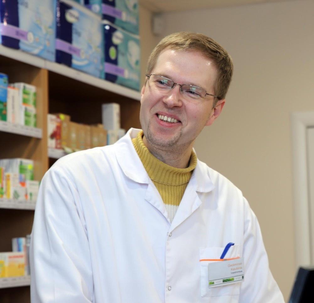 Pumpėnuose dirbantis vienas iš geriausių Lietuvos vaistininkų žino vaistą nuo visų ligų