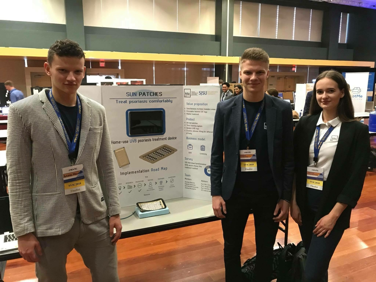KTU studentai Silicio slėnyje sėkmingai pristatė idėją žvynelinei gydyti