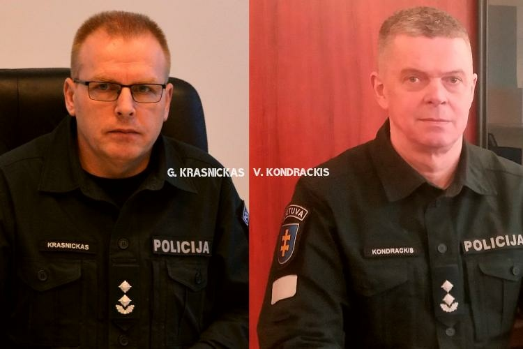 Teritorijomis apsikeitė Druskininkų ir Lazdijų policijos viršininkai