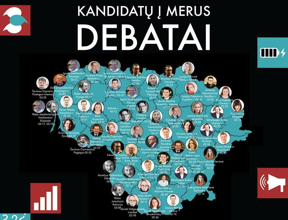 Pagėgiuose vyks kandidatų į merus debatai