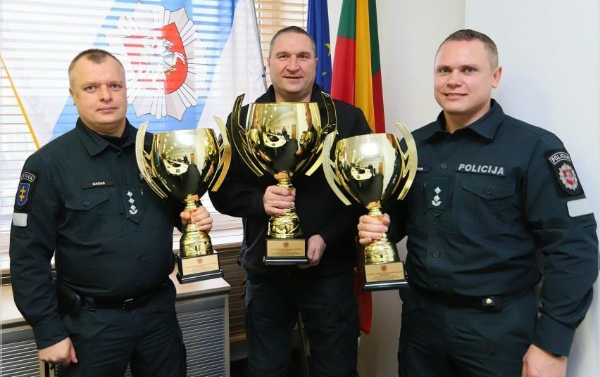 Pagerbti sportiškiausi sportininkai, instruktoriai ir policijos įstaigos