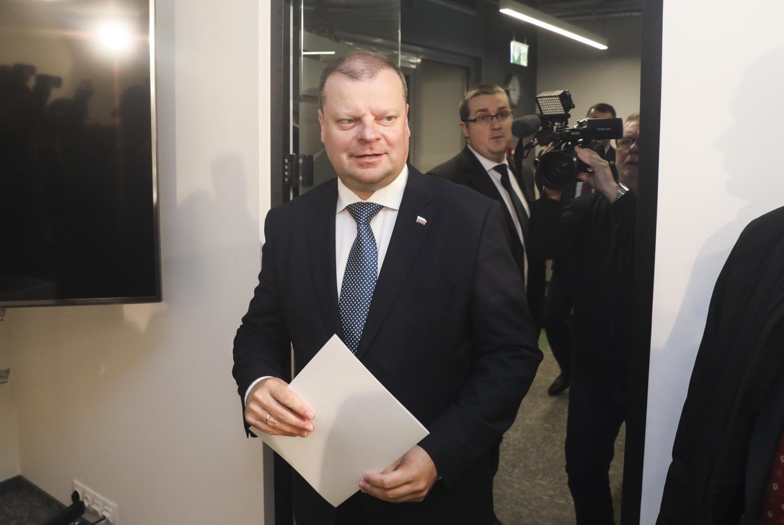 S. Skvernelis pristato rinkimų štabą ir idėjas Lietuvai: kovos už valstybę be korupcijos