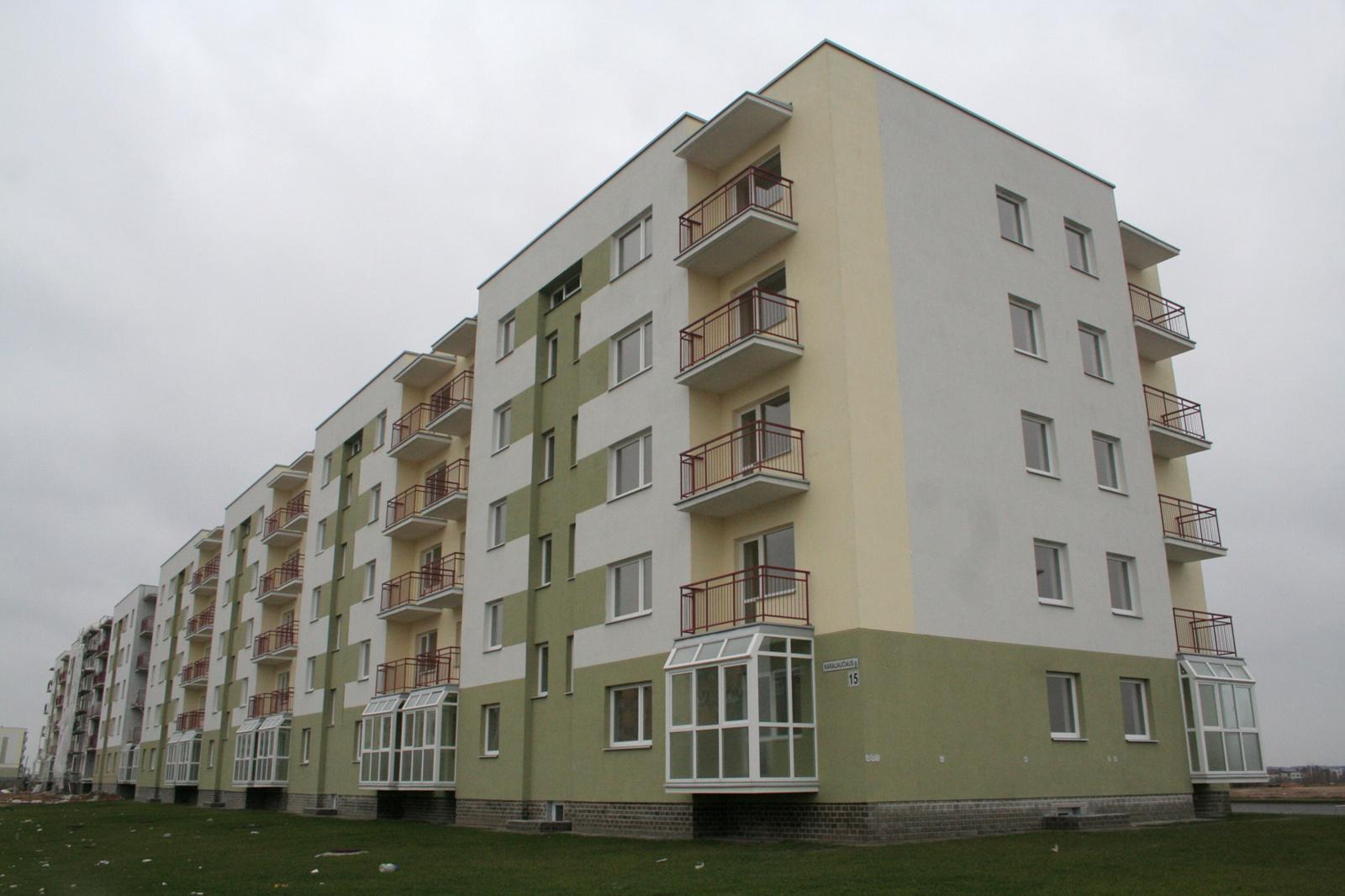 Gyvenamųjų pastatų statyba pernai brango