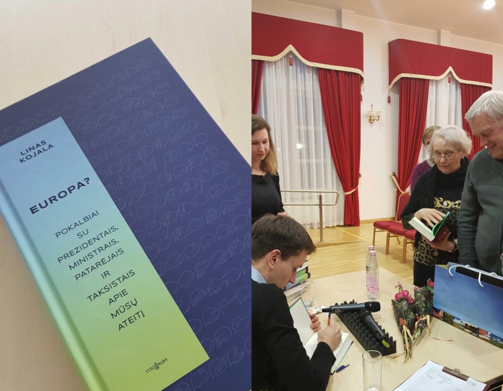 """Lino Kojalos knyga """"Europa? Pokalbiai su prezidentais, ministrais, patarėjais ir taksistais apie mūsų ateitį"""""""