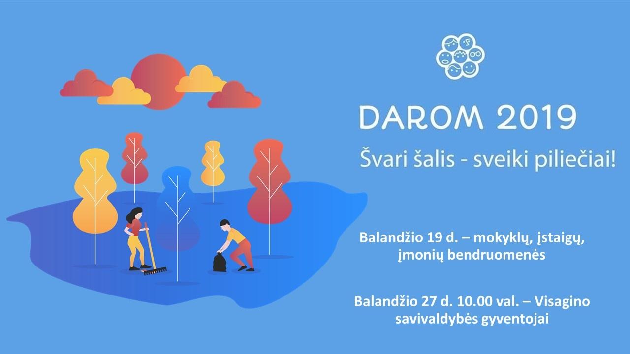"""Visaginas jungiasi prie tvarkymosi akcijos """"DAROM 2019"""""""