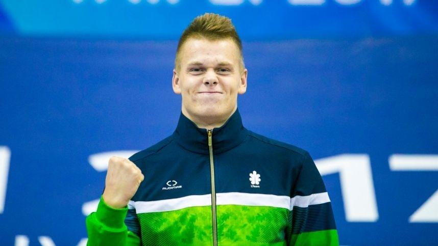 Plaukikas D. Rapšys daugiau nei 16 sek. pagerino Lietuvos rekordą