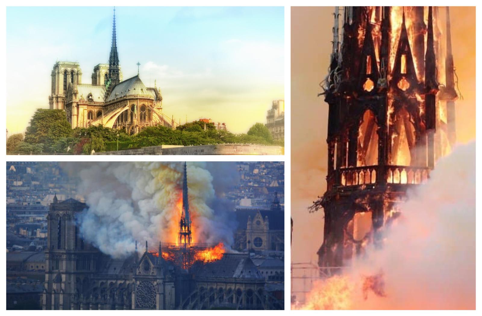 Gaisras Paryžiaus Dievo Motinos katedroje suvaldytas: paaukos atstatymui