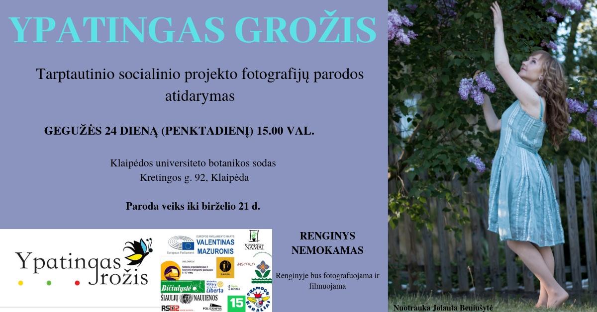 """Tarptautinio socialinio projekto """"Ypatingas grožis"""" fotografijų paroda Klaipėdoje"""