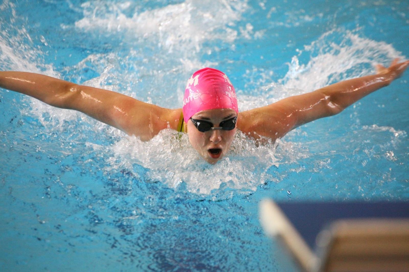 A.Šeleikaitė patarė jauniesiems Anykščių plaukikams: nepasiduokite ir siekite savo tikslų
