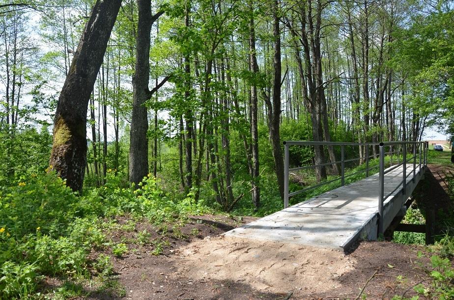 Naujas tiltas per Gaują Rimašiuose