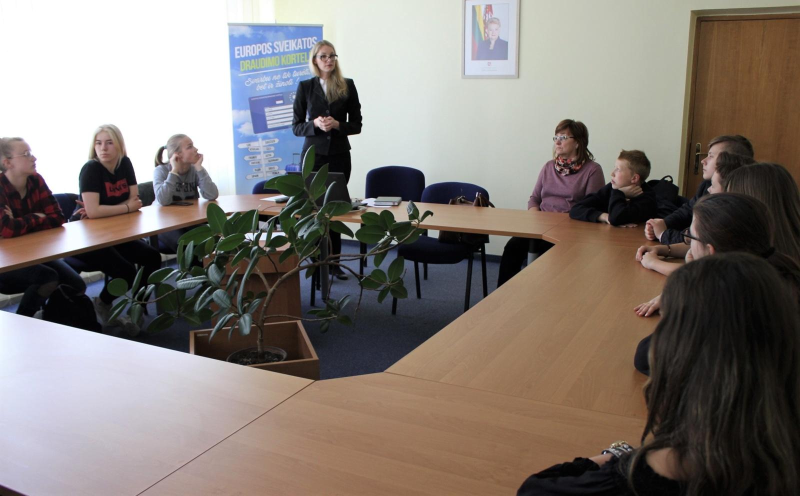 Šiaulių teritorinėje ligonių kasoje lankėsi moksleiviai