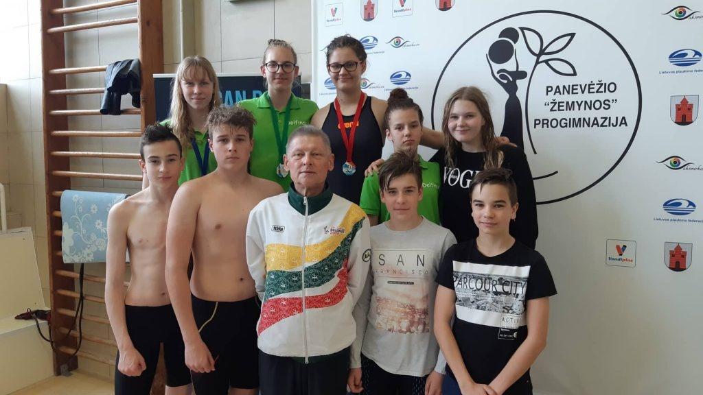 Iš Panevėžio plaukikai grįžo su medaliais