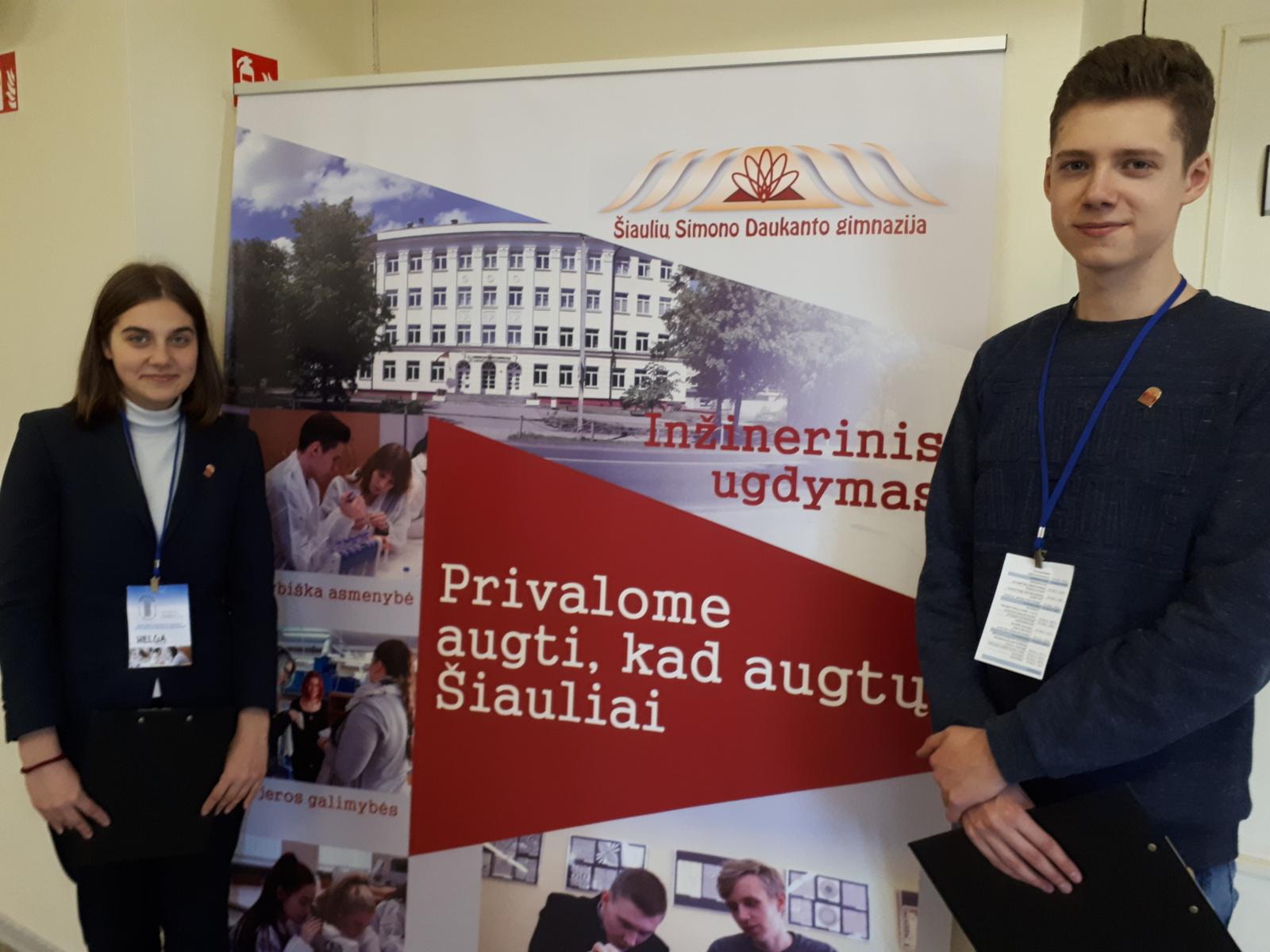 """Simono Daukanto gimnazistai dalyvavo respublikinėje konferencijoje """"Kokybiško ugdymo pagrindas – susitarimai ir bendradarbiavimas"""""""