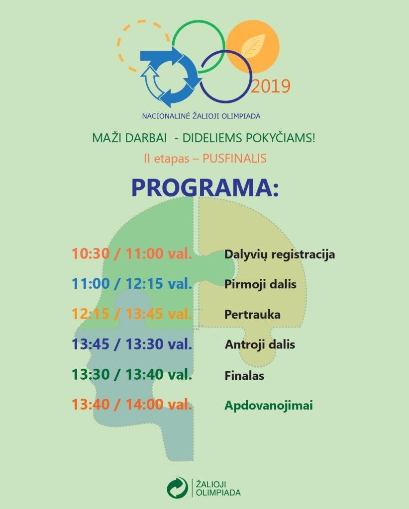 """Nacionalinė žalioji olimpiada """"Maži darbai – dideliems pokyčiams"""""""