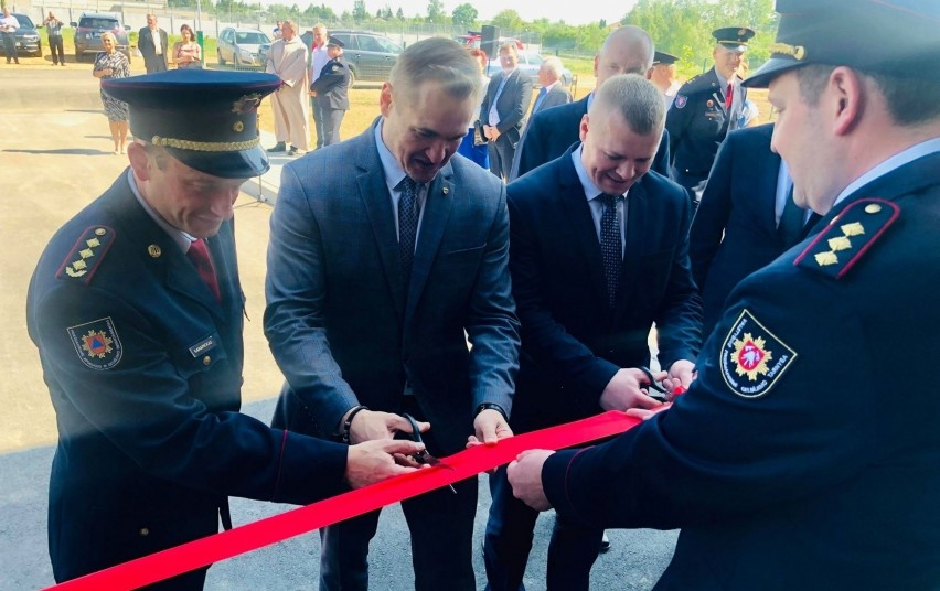 Kybartuose atidarytos naujos gaisrinės patalpos