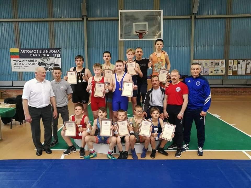 Šiauliuose vyko Lietuvos laisvųjų imtynių ir moterų imtynių vaikų U-13 čempionatas