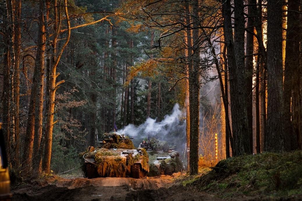 """""""Geležinis Vilkas"""" pratybų metu per Lietuvą siekiant užimti gynybos pozicijas, judės tankai, šarvuočiai, artilerijos pabūklai"""