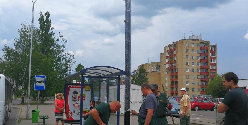 Įrenginėjamos informacinės viešojo transporto švieslentės