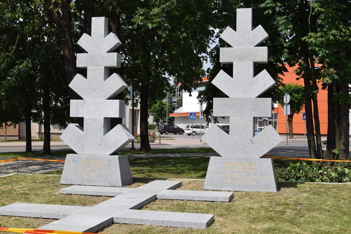 Nepriklausomybės gynėjų aikštėje – paminklai kraštiečiams kovotojams