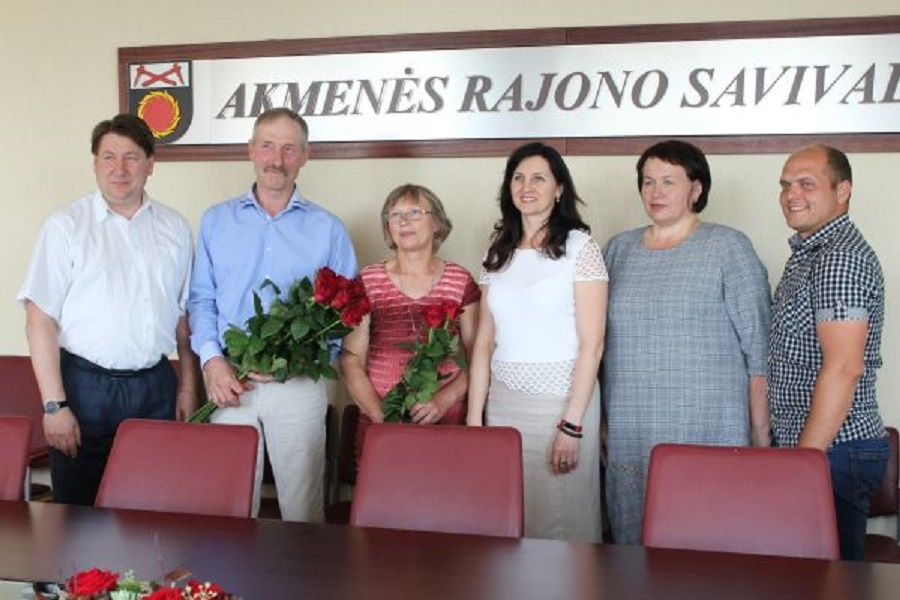 Sveikinimai jubiliejaus proga ūkininkui A. Balčiūnui