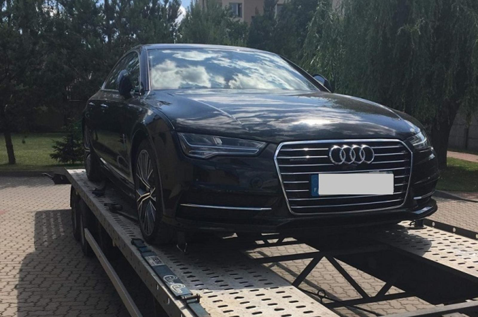 """Tarptautinis patrulis sulaikė, įtariama, Prancūzijoje pavogtą """"Audi A7"""""""
